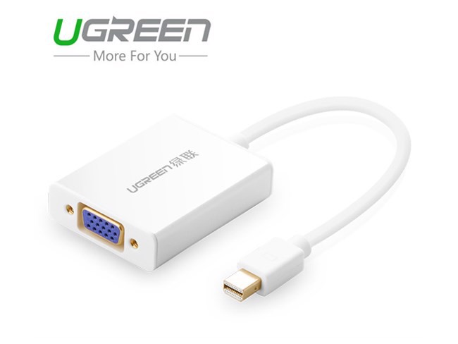 Cáp Mini DisplayPort, ThunderBolt to VGA + audio ugreen 10437