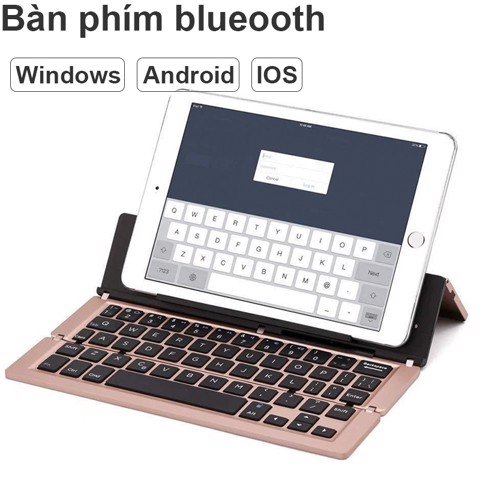 Bàn phím Bluetooth dạng gập cho iPhone iPad Android OS Window