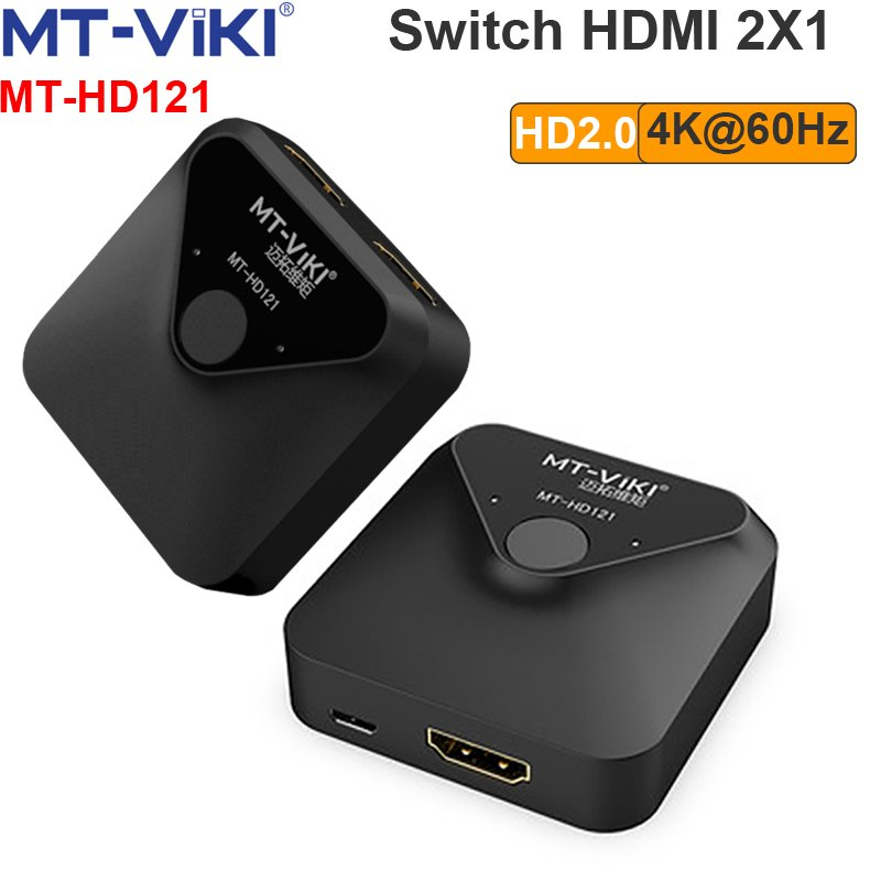 Bộ gộp HDMI switch 2X1 4K@60Hz MT-VIKI MT-HD121