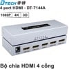 Bộ chia HD 1 ra 4 - HDMI splitter 1 in 4 out 4K2K 3D DTECH DT-7144A