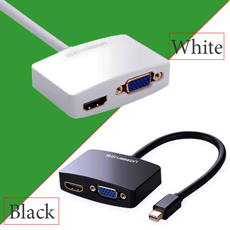 Cáp Mini DisplayPort to VGA + HDMI Ugreen 10439 | 10427
