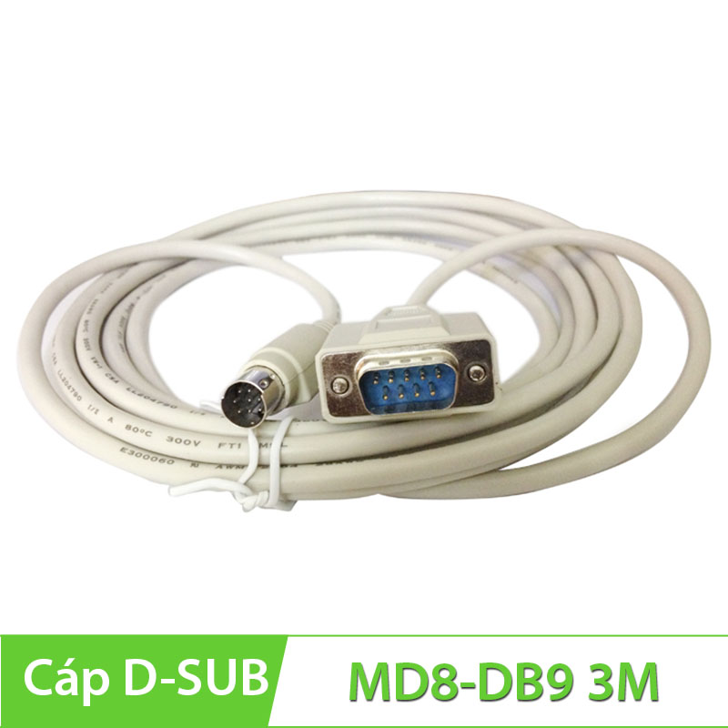Cáp com DB9M to Com 8Pin Mini DIN 3M