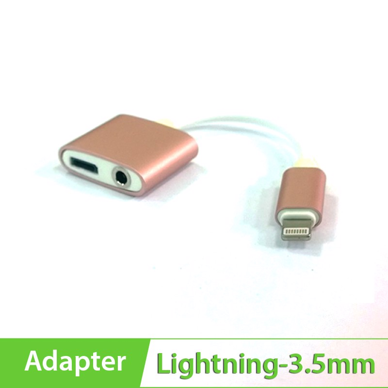 Cáp Lightning sang 3.5mm hỗ trợ sạc cho Apple iPhone 7, 7 Plus