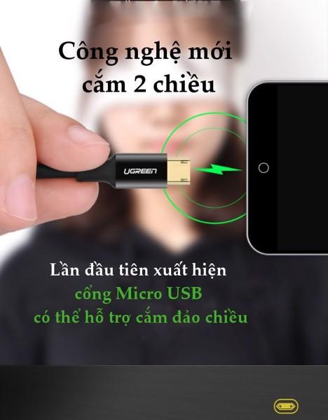 Cáp Micro USB cắm hai chiều thông mình Ugreen