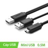 Cáp USB 2.0 to Mini USB chữ Y 0.5m Ugreen 10346