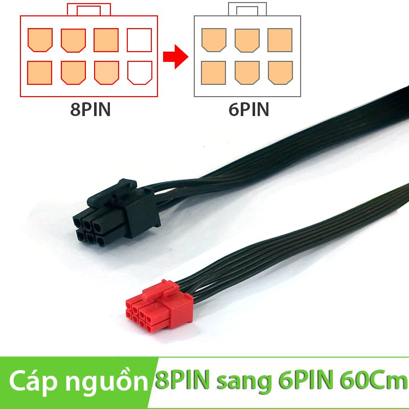 Cáp nguồn 8Pin Male to 8Pin Male 60Cm