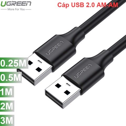 Cáp USB 2.0 male to male 0.25M 0.5M 1M 1.5M 2M 3M UGREEN