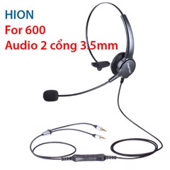 Tai nghe + Micro 2x3.5mm Hion For600 / Hion For 600 cổng 2 cổng 3.5mm