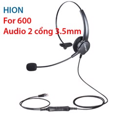 Tai nghe + Micro RJ9 Hion For600 / Hion For 600 cổng RJ9