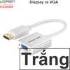 Displayport sang VGA 20cm Ugreen 20406 full HD1080P