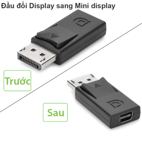 Displayport Male to Mini Displayport Female