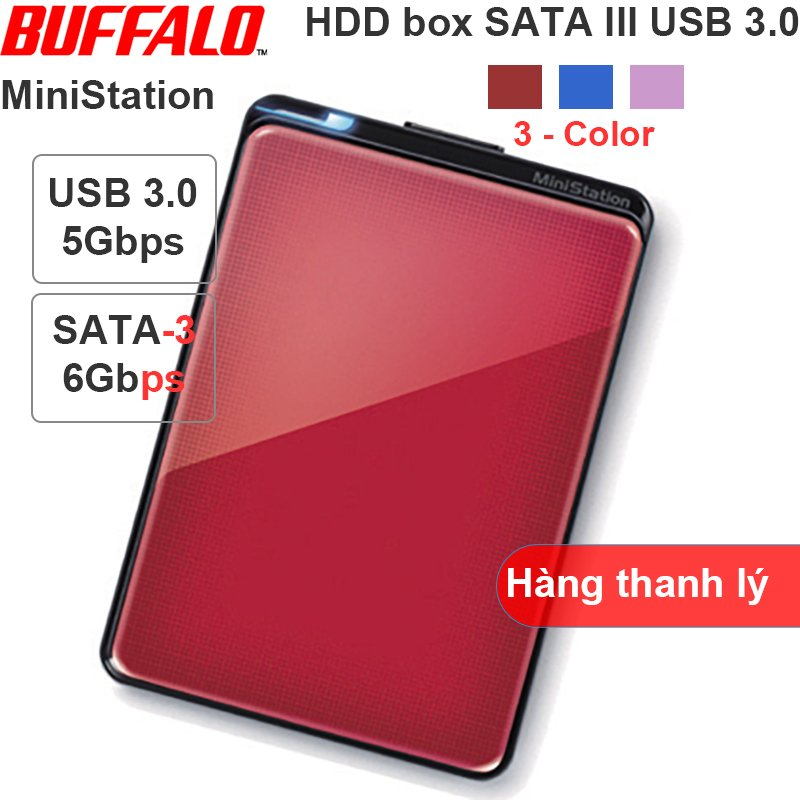 HDD SSD box 2.5 USB 3.0 SATA3 BUFFALO MiniStation