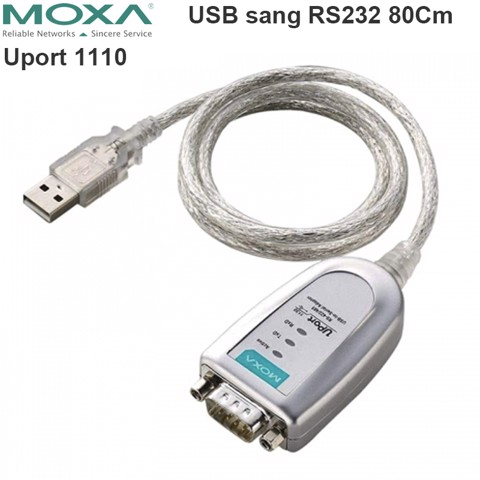 Cáp USB to serial port RS232 DB9 Moxa Uport 1110 80Cm