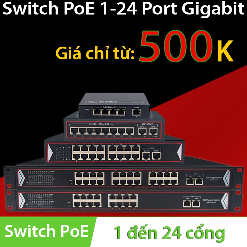 Switch PoE 5 Port | 8 Port | 10 Port | 16 Port | 24 Port 10/100/1000Mbps- Gigabit