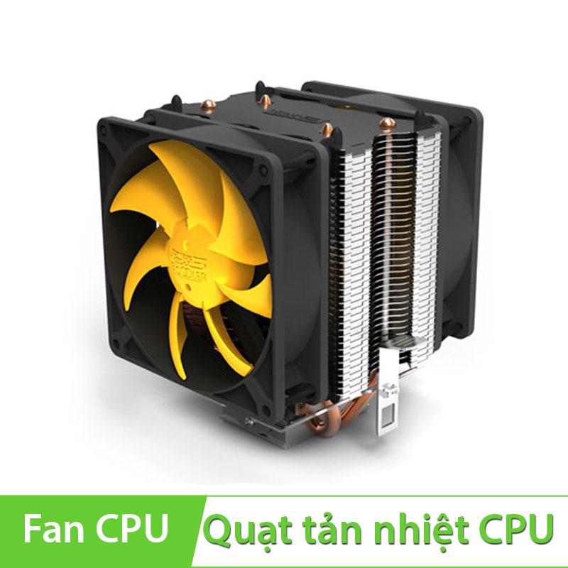 Quạt CPU PC Cooler S90D 2 Fan 90mm dùng cho socket 775/1155/1156/1366/AMD