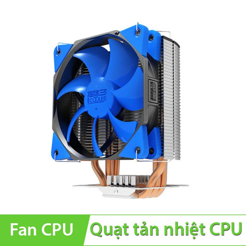 Quạt CPU PC Cooler S125 Fan 12cm dùng cho socket 775/ 1155/ 1156/ 1366/ 2011/AMD