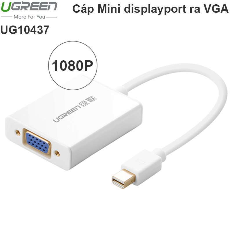Mini DisplayPort ThunderBolt to VGA + audio ugreen 10437
