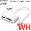 Mini DisplayPort to VGA + HDMI Ugreen 10439