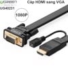 HDMI to VGA 2M full HD 1080P Ugreen 40231 - Dây cáp HDMI sang VGA