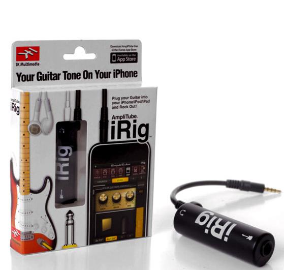 cáp irig AmpliTube kết nối đàn Guitar với điện thoại iphone