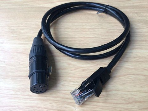 Cáp Cannon XLR5 Female to RJ45 Male