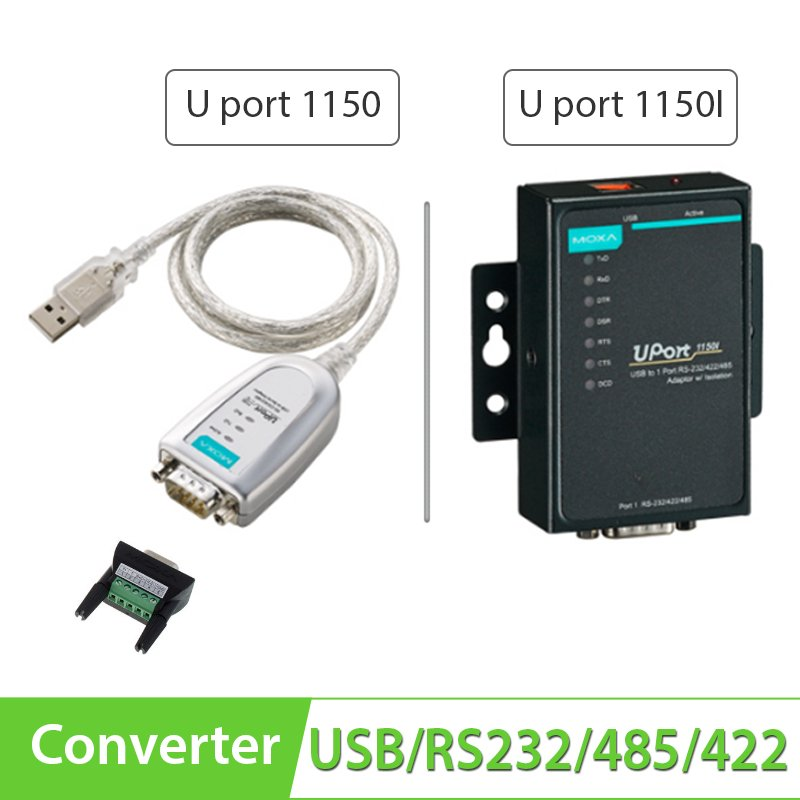 Cáp chuyển đổi USB to RS232/RS422/RS485 Moxa UPort 1150 & Uport 1150I