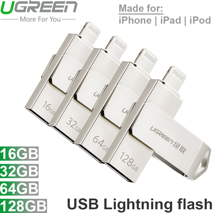 USB cắm ngoài cho iPhone iPad iPod Laptop PC 16G 32G 64G 128G UGREEN