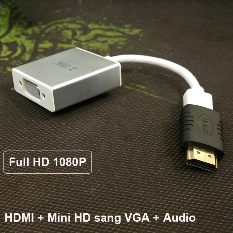 HDMI - Mini HDMI sang VGA + Audio Adapter 20Cm Z-TEK ZY-097