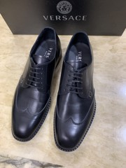 Giày nam Versace calf leather lace-up