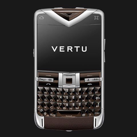 Vertu Quest Sapphire keys Brown Leather