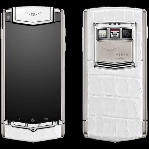 Vertu Ti White Alligator