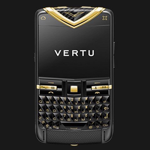 Vertu Quest Black Stainless Steel Yellow Gold