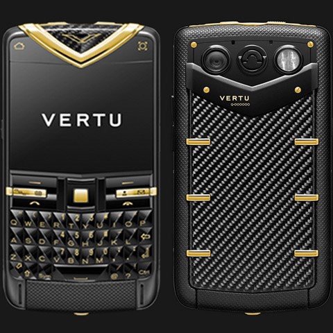 Vertu Quest Black Yellow Gold Carbon