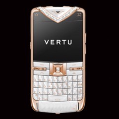 Vertu Quest White Alligator Red Gold Diamond