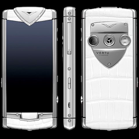 Vertu Touch White Alligator Diamond Trim