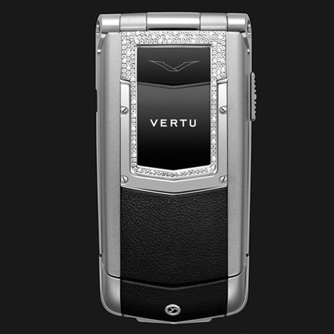 Vertu Ayxta Black Leather Diamond Trim Ceramic Keys