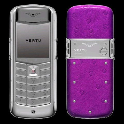 Vertu Constellation Ostrich Purple