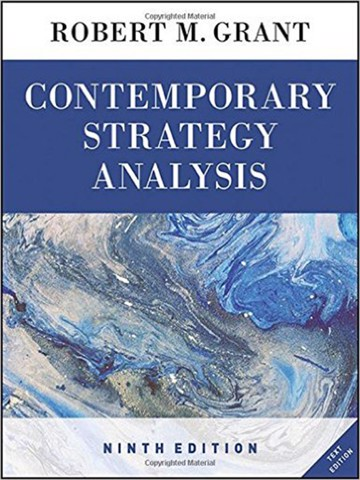 Contemporary Strategy Analysis Text Only 9th Edition