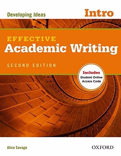 Effective Academic Writing (2 Ed.) Intro: Student Book with Online Practice