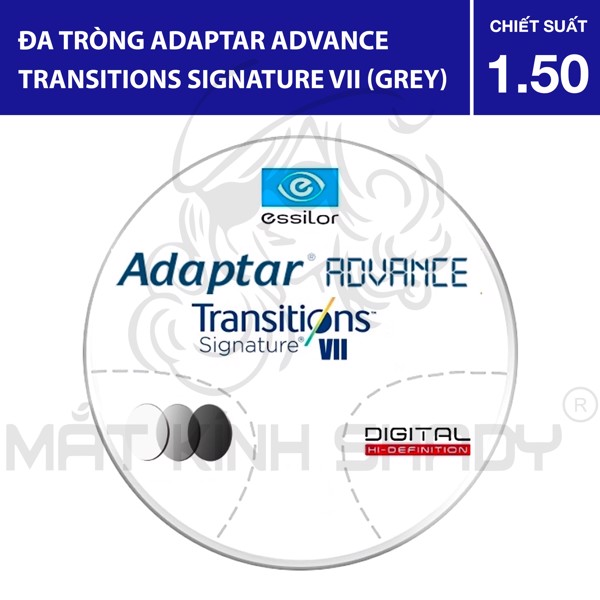Đa tròng Adaptar Advance Transitions VII (Grey) - 1.50