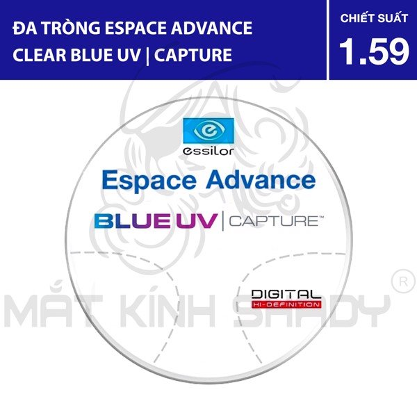 Đa tròng Espace Advance Clear Blue UV | Capture® - 1.59 Poly