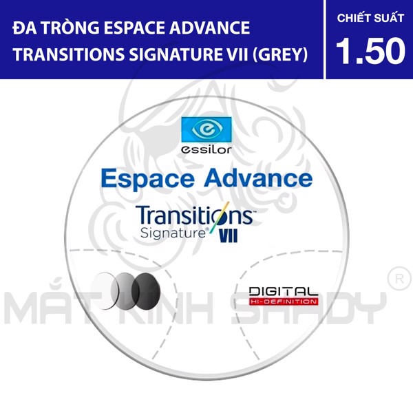 Đa tròng Espace Advance Transitions Signature VII (Grey) - 1.50