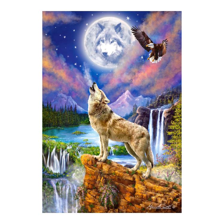 C1518062 Xếp hình puzzle Wolf's Night 1500 mảnh CASTORLAND