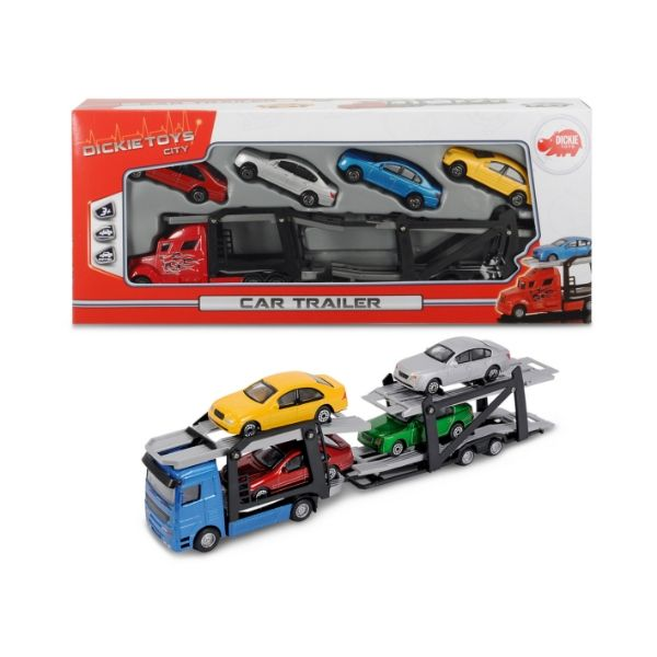 203745000 Xe kéo kèm 4 ô tô Dickie Toys