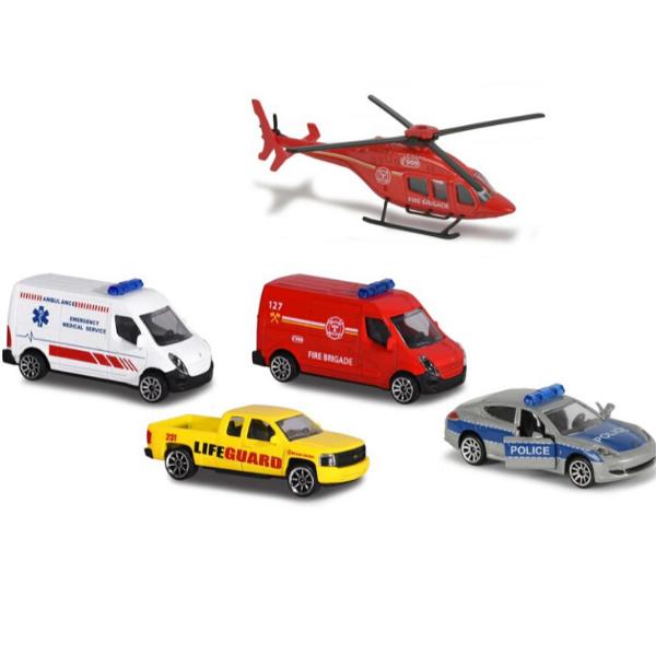 212050019 Bộ Đồ Chơi Mô Hình Trạm Cứu Hộ MAJORETTE Creatix Rescue Station + 5 Vehicles