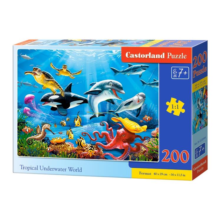 B0222094 Xếp hình puzzle Tropical Underwater World 200 mảnh CASTORLAND