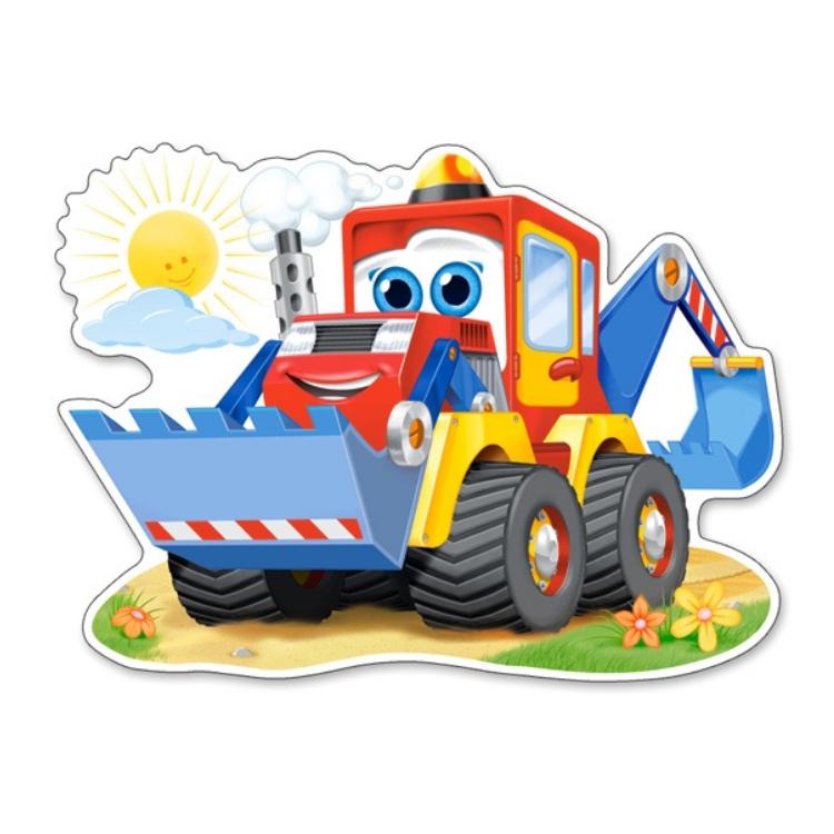 B0120024 Xếp hình puzzle Funny Digger 12 12 mảnh Maxi CASTORLAND