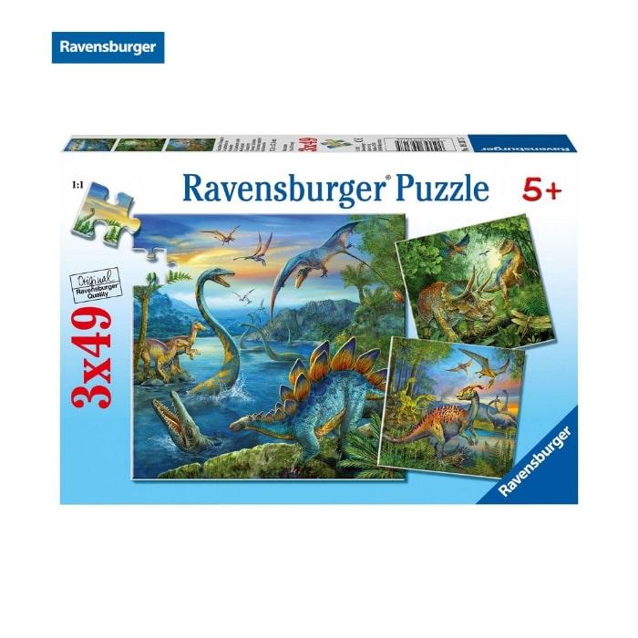 RV09317 5 Bộ xếp hình puzzle Ravensburger Dinosaur Fascination 3 bộ 49 mảnh 09317 5