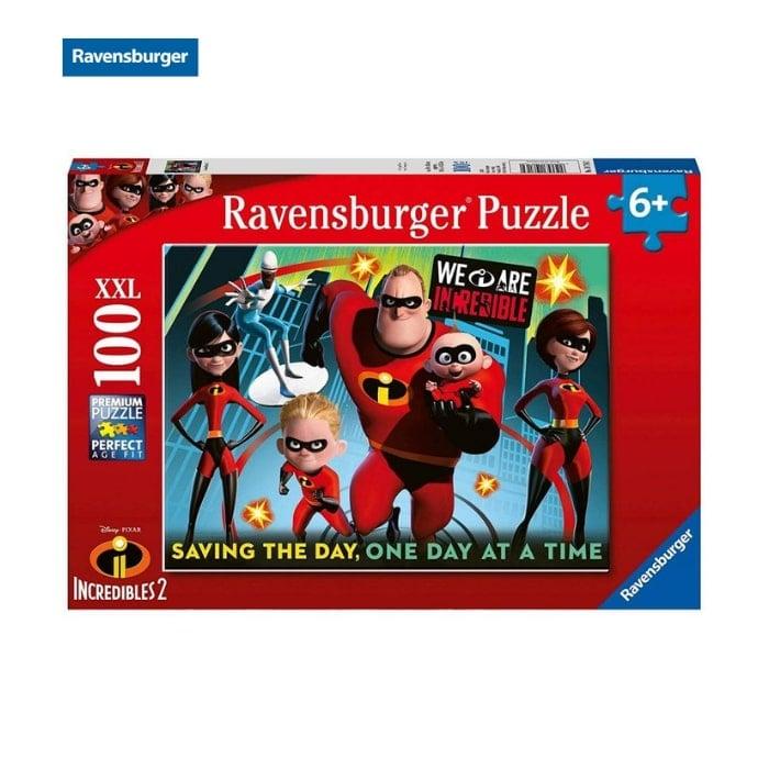 Bộ xếp hình puzzle Ravensburger D-Pixar: Incredibles 2 100 mảnh 10716 2