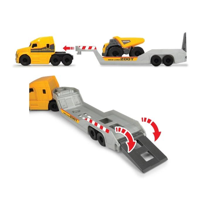 203725005 Bộ Đồ Chơi Xe Xây Dựng DICKIE TOYS Mack/Volvo Micro Builder Truck